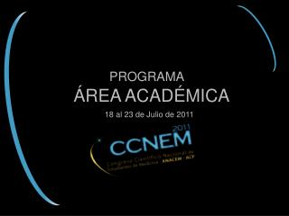 programa académico ccnem 2011