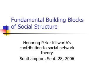 Fundamental Building Blocks of Social Structure