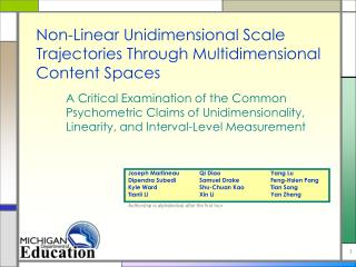 Non-Linear Unidimensional Scale Trajectories Through Multidimensional Content Spaces