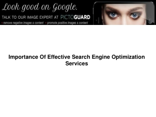 Importance of Effective Search Engine Optimization Services
