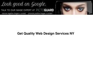 Get Quality Web Design Services NY