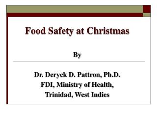 Food Safety at Christmas