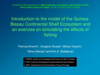 Introduction to the model of the Guinea-Bissau Continental Shelf Ecosystem and an exercise on simulating the effects of
