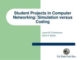 Student Projects in Computer Networking: Simulation versus Coding