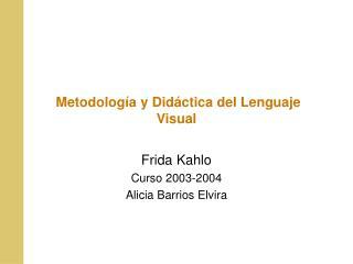 Metodolog a y Did ctica del Lenguaje Visual