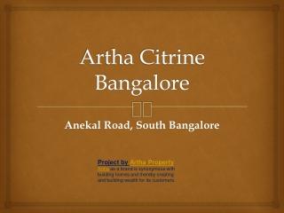 Artha Citrine Bangalore Artha Citrine Properties Artha Citri