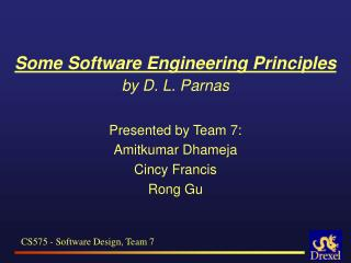 Some Software Engineering Principles  by D. L. Parnas