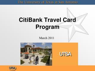 CitiBank Travel Card Program