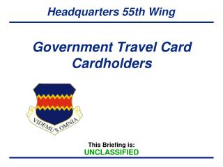 Government Travel Card Cardholders