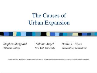 The Causes of  Urban Expansion