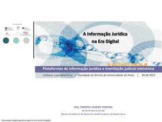 A Informa  o Jur dica na Era Digital