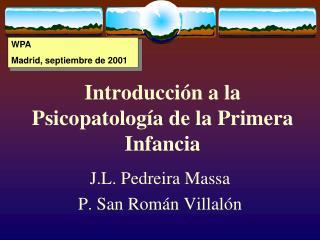 Introducci n a la Psicopatolog a de la Primera Infancia