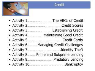 Credit - Citibank