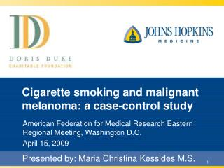 Cigarette smoking and malignant melanoma: a case-control study