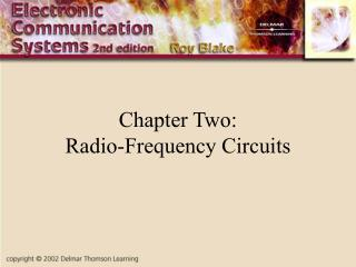 Chapter Two: Radio-Frequency Circuits