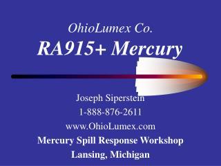 OhioLumex Co. RA915 Mercury