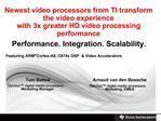 TI video solutions are completely changing how the world interacts with HD video end applications