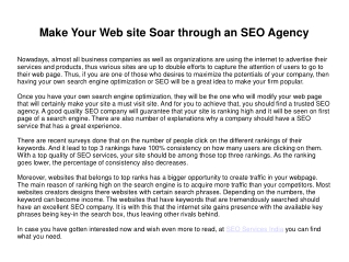Obtain Popularity Online by Hiring an SEO Agency
