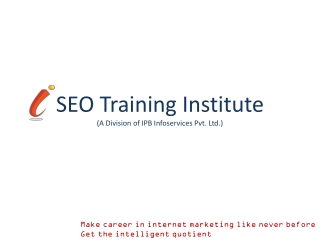seo ppc internet marketing smo course training PPT