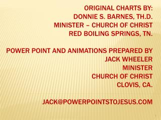 Original Charts By: Donnie S. Barnes, Th.D. Minister   Church of Christ Red Boiling Springs, Tn.  Power Point and Animat