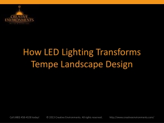 How LED Lighting Transforms Tempe Landscape Design