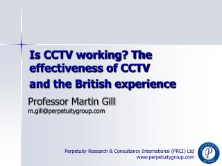 Is CCTV working The effectiveness of CCTV  and the British experience