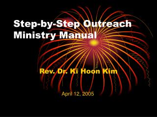 Step-by-Step Outreach Ministry Manual