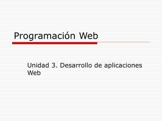 Programaci n Web