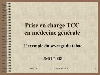 Prise en charge TCC en m decine g n rale