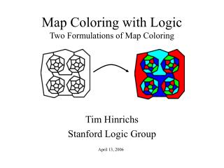 Map Coloring with Logic Two Formulations of Map Coloring