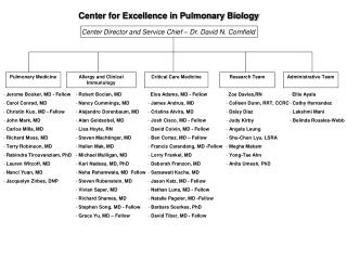 CENTER FOR EXCELLENCE IN PULMONARY BIOLOGYCenter for Excellence in Pulmonary Biology