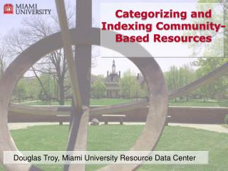 Categorizing and Indexing Community-Based Resources