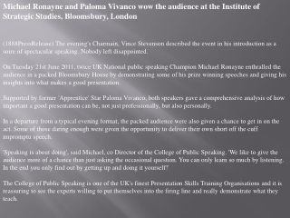 michael ronayne and paloma vivanco wow the audience at the i