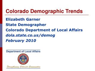 Colorado Demographic Trends