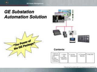 GE Substation Automation Solution