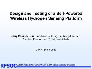 Design and Testing of a Self-Powered Wireless Hydrogen Sensing Platform