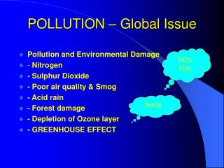 POLLUTION   Global Issue