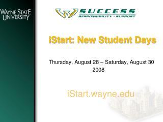 IStart: New Student Days