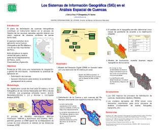 Los sistemas de informaciLos Sistemas de Informaci n Geogr fica SIG en el  An lisis Espacial de Cuencas