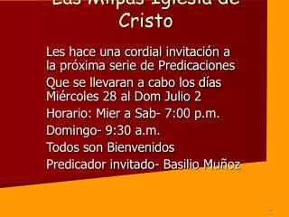 Las Milpas Iglesia de Cristo