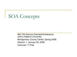 SOA Concepts