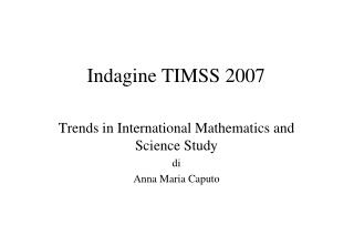 Indagine TIMSS 2007