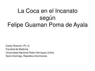 La Coca en el Incanato  seg n  Felipe Guaman Poma de Ayala