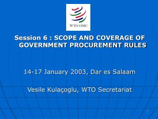 DEFINITION AND SCOPE OF GOVERNMENT PROCUREMENT AND COVERAGE OF ...