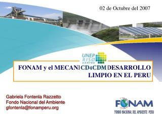 FONAM y el MECANISMO DE DESARROLLO LIMPIO EN EL PERU