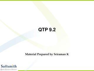 QTP 9.2