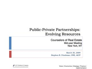 Public-Private Partnerships: Evolving Resources