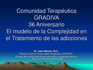 Comunidad Terap utica GRADIVA 36 Aniversario El modelo de la Complejidad en el Tratamiento de las adicciones