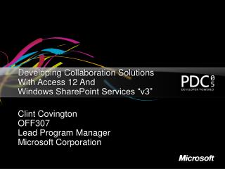 Developing Collaboration Solutions With Access 12 And ...