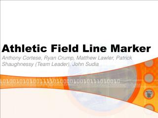 Athletic Field Line Marker